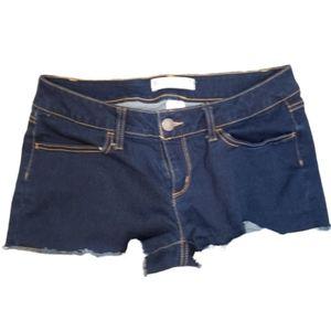 4/$24 No Boundaries Booty Shorts Dark Wash